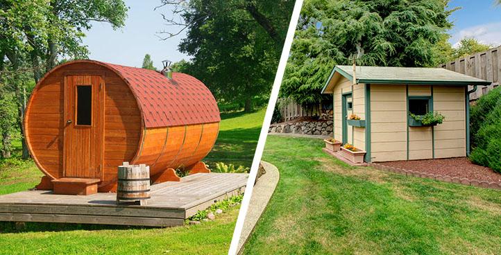 Gartenhaus & Sauna